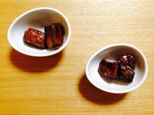 カツオの生姜醬油煮付け